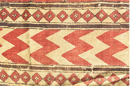Lehariya design as jajam border