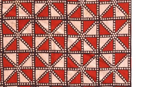 Shekar paara design block printed in centerfields of jajam
